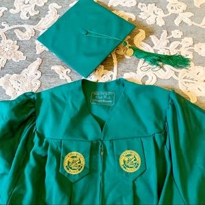 George Mason masters cap, gown and hood